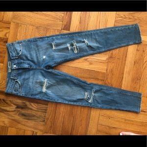 Topshop moto ripped skinny jeans sz 26